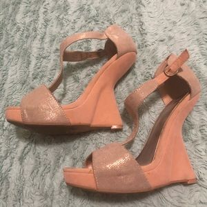 PaperFox Wedge Heel in Champagne